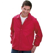 Auburn® Kasha Lined Nylon Coach Jacket, Adult Solid Red,Blue,Black,Green L-4XL - $21.51 - $28.37