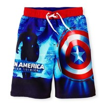 50% OFF CAPTAIN AMERICA MARVEL AVENGER Bathing Suit Swim Trunks Boys Sz.... - $13.02