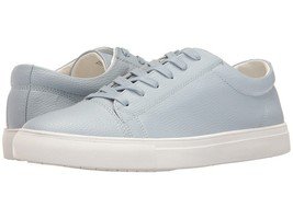 NEW $100 STEVE MADDEN LT BLUE TUMBLED LEATHER BOUNDED LACE UP SNEAKERS s... - $29.69