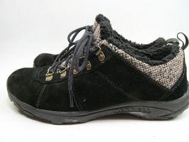 MERRELL Performance Women's Black Suede & Faux Fur Walking Shoes 9 M image 4