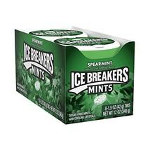 ICE BREAKERS Sugar Free Mints, Spearmint, 1.5 Ounce (Pack of 8) - $18.76