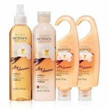 Avon Senses Vanilla Bath & Body Set - $32.32