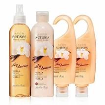 Avon Senses Vanilla Bath & Body Set - $32.32
