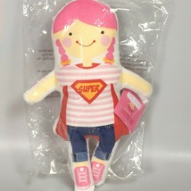 Super Girl Joy stuffed doll rag doll girls first doll Easter basket filler - $30.50