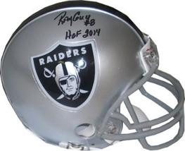 Ray Guy signed Oakland Raiders Replica Mini Helmet HOF 2014- Guy Hologram - $54.95