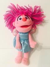 Sesame Street Abby Cadabby Fairy Doll 9in Pink Blue Plush 2010 - $10.00