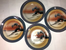 4 Pieces Of Vintage Lusterware Hand Painted Made In Japan House In Woods... - $4.94