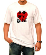 Jesus Christ Loves White T-Shirt - $9.49+