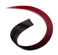 2 Pieces Of Fashionable Invisible Hair Extension Wig Piece, Wine Red