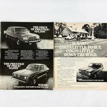 Vintage 1977 Magazine Print Ad Subaru SEEC-T Engine Economy Car - $6.62