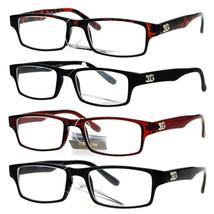 SA106 School Teacher Narrow Rectangular Plastic Frame Eye Glasses - $9.95