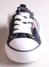 New Levi's Denim Blue Girls Stan G Canvas Sneakers Gym Shoes New in Box 1091100 image 4