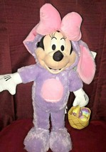 Minnie Mouse Easter Bunny Plush Easter Greeter Purple - $35.00