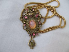Vintage Sarah Coventry Faux Opal Rhinestone Contessa Brooch Pin Pendant ... - $40.00