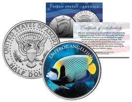 EMPEROR ANGELFISH *Fish Series* JFK Kennedy Half Dollar U.S. Colorized Coin - $8.86
