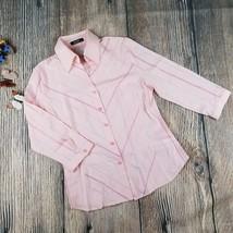 New WANKO sz 36 (small) womens button down 3/4 sleeves career collar shi... - $7.92