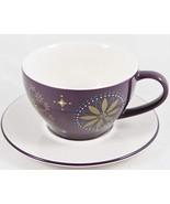 Starbucks Coffee Holiday 2006 Purple Star Cup and Saucer 12 fl. oz. - $15.35