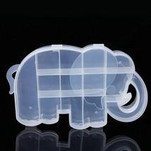 1PCS Cartoon Elephant Storage Box Case Organizer Clear Plastic Jewelry - $4.24