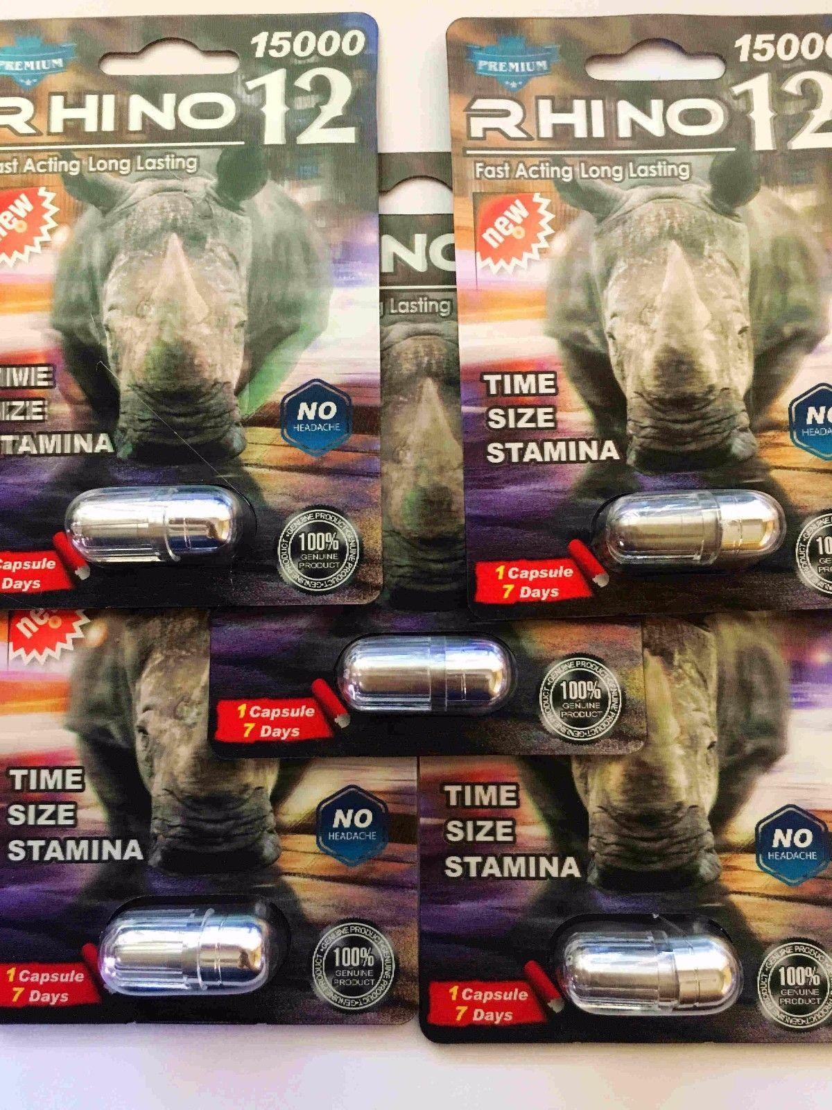 100% Genuine Rhino 12 Premium 15000 Male Sexual Performance Enhancer image 2
