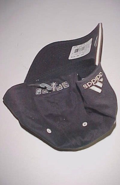 San Antonio Spurs Logo NBA adidas Adult Unisex Black Gray Cap One Size New