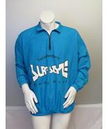 Vintage Surf Style Pullover - Blue Reflective Windbreaker - Men's XL  - $65.00