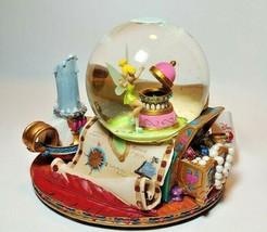 Tinker Bell Disney Musical Snowglobe Peter Pan You Can Fly Peter Pan - $74.25