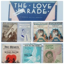 Vintage Sheet Music From 1920s Musicals Assorted Lot of 8 Songs - $37.19