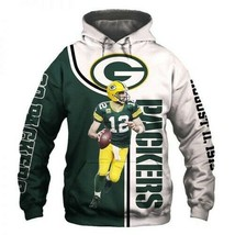 Official-Green-Bay-Packers-NFL -12-Aaron-Rodgers 3D Hoodie S-5XL , Gifts For Fan - $35.31+