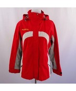Columbia Omni Tech Waterproof Breathable Red Hooded Parka Jacket Womens ... - $67.72