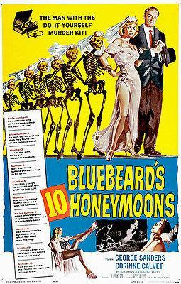 Primary image for Bluebeard's 10 Honeymoons - 1960 - Movie Poster