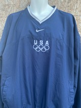 Nike Mens Olympic USA Windbreaker Pullover Jacket XXL Side Zip ringer Vi... - $29.68