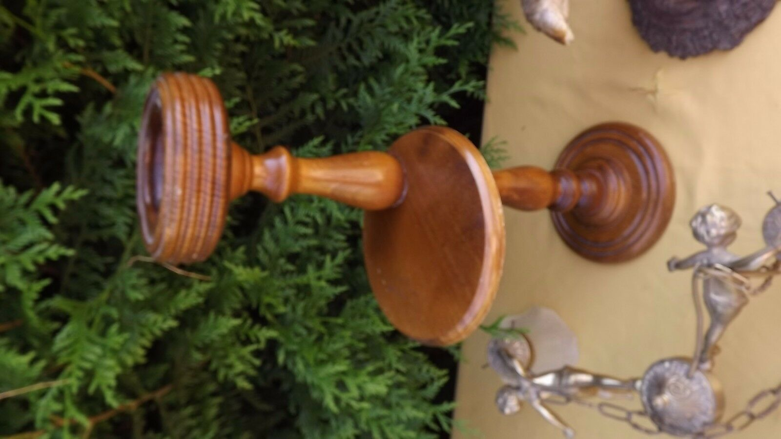 pedestal ashtray danish design 1960 Victorian plant stand art deco mid century image 4