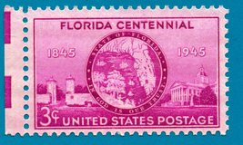 Scott   #927 Florida Statehood Centennial Mint Condition Stamp - $3.99
