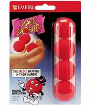 Loftus Red Magic Sponge Ball Set, 1 1/4 inch Balls with Instructions