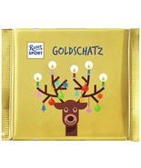 Ritter Sport GOLDSCHATZ XL Reindeer chocolate bar -145g- FREE SHIPPING - $10.44