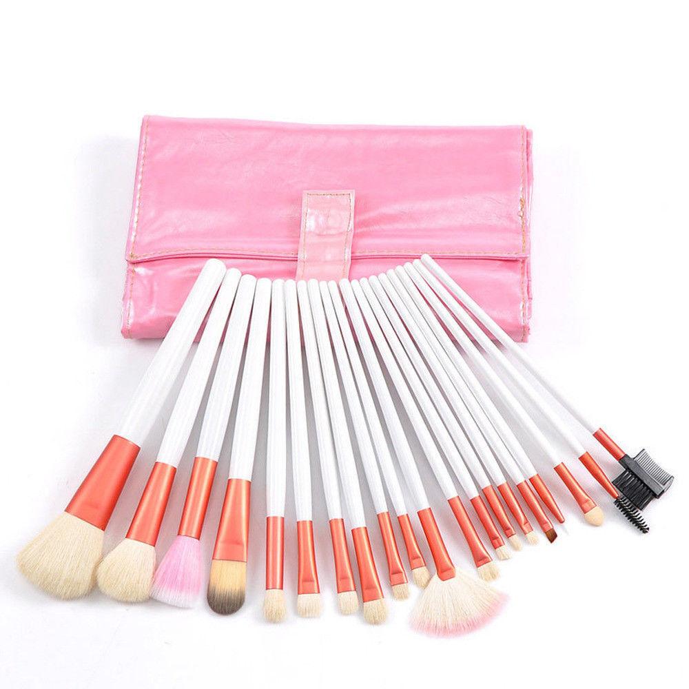 Professional 20Pcs Makeup Brush Set Powder Blending Cosmetic Tool Synthetic Bag - $15.43