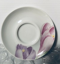 One Mikasa VOGUE L1052 Saucer Purple, Pink flowers Easter Spring free shipN - $15.99