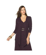 Liz Lange Draped Front Ultimate Cardigan in Purple, XS - $25.73