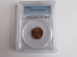 1945-S Lincoln Cent PCGS MS67RD - $173.25