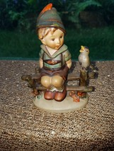 "GOEBEL HUMMEL WAYSIDE HARMONY BOY WITH BIRD ON FENCE #111/I TMK2 5-5.5"" ... - $22.49"