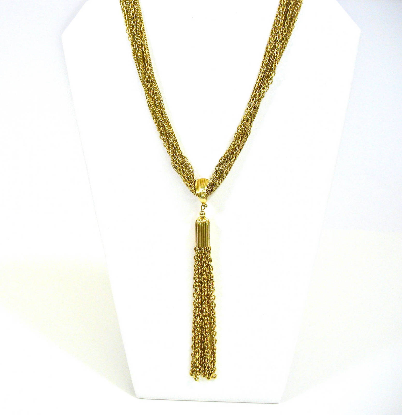Multiple Strand Tassel Necklace, Removeable Tassel, Convertible Necklace, 1970's