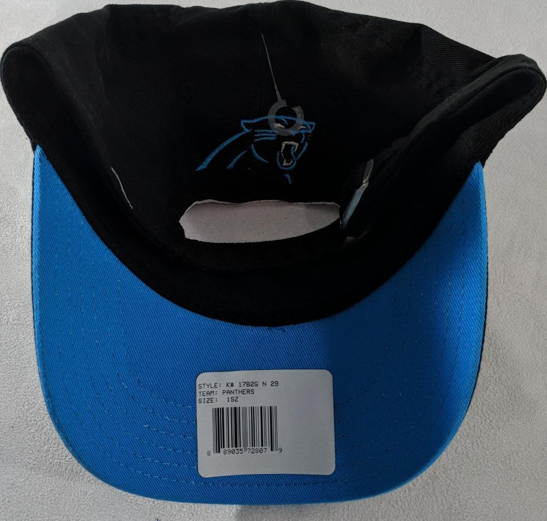 LZ NFL Team Apparel Girl's One Size Carolina Panthers Baseball Hat Cap NEW i23 image 3