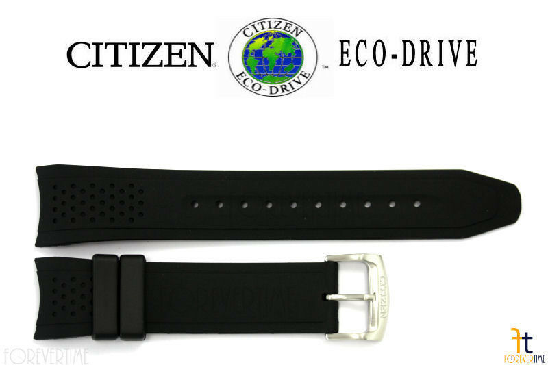 Primary image for Citizen Eco-Drive S082781 Original 22mm Black Rubber Watch Band Strap S082790