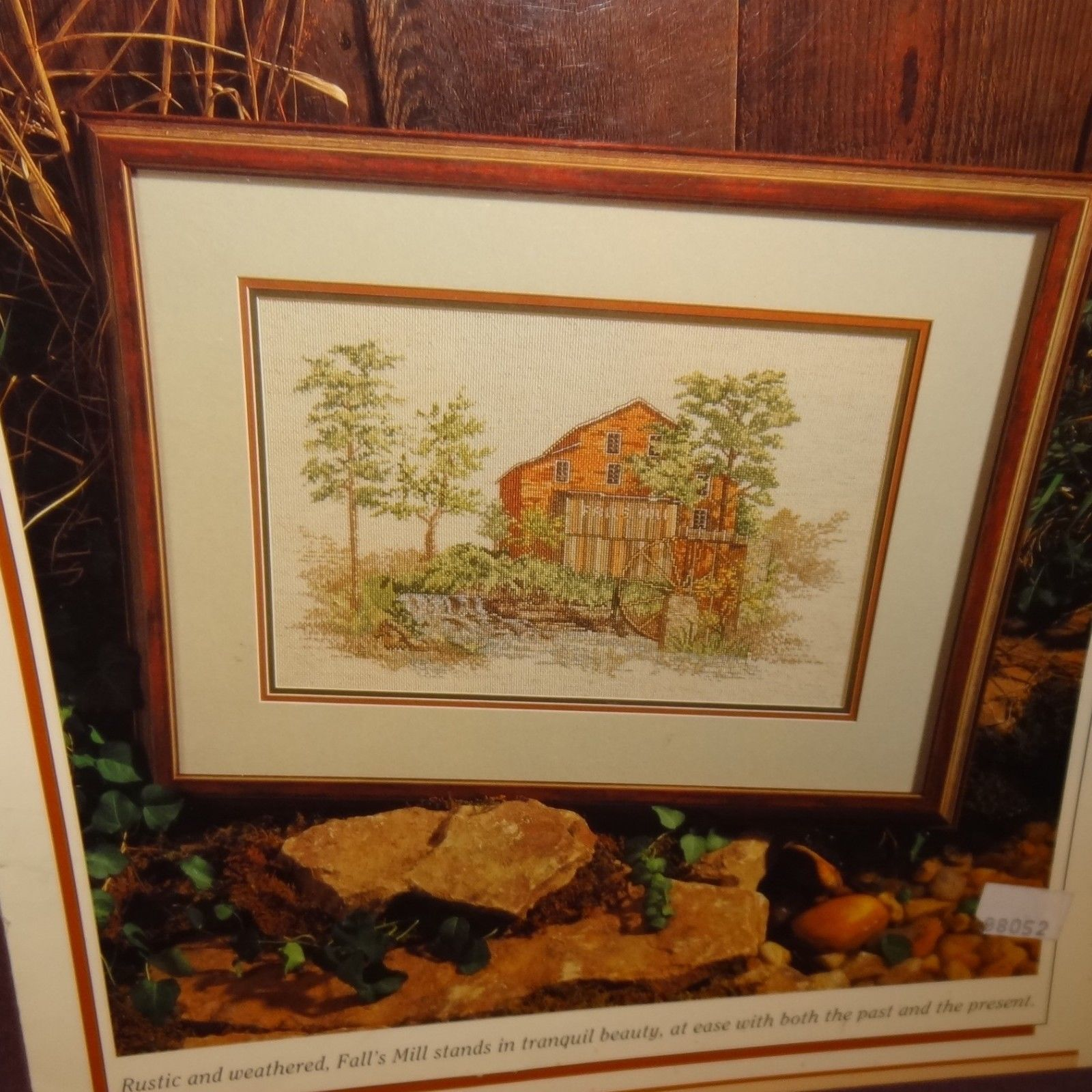 Falls Mill Cross Stitch Leaflet Book Color Charts Burton Dyes 1990 Trees River - $9.99