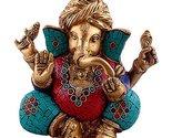 Aakrati - Turquoise Stone Embedded Ganesha Wearing Turban | Home Temple Decorati