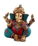 Aakrati - Turquoise Stone Embedded Ganesha Wearing Turban | Home Temple ... - $118.99