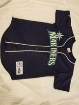 Vintage Made In USA Seattle Mariners Jersey Stitched Majestic MLB Baseball #6 image 12
