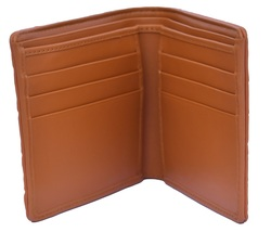 Gorgeous Crocodile Tawny Brown Horn Back Card Slots Real Leather Wallet - $179.99