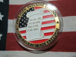 POW MIA OPERATION ENDURING IRAQ FREEDOM OPERATION IRAQ FREEDOM CHALLENGE... - $12.95
