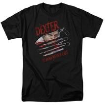 Dexter T-shirt Blood Never Lies graphic TV show printed cotton tee SHO202 Black  image 2